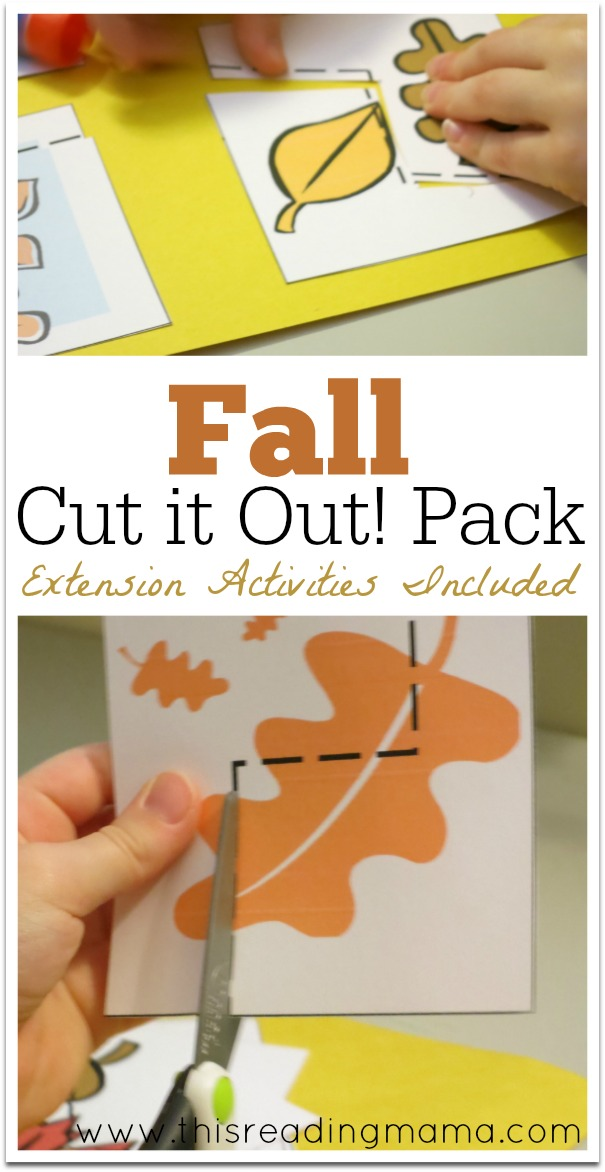 Fall Cut it Out! Pack with Extension Activities {FREE} | This Reading Mama
