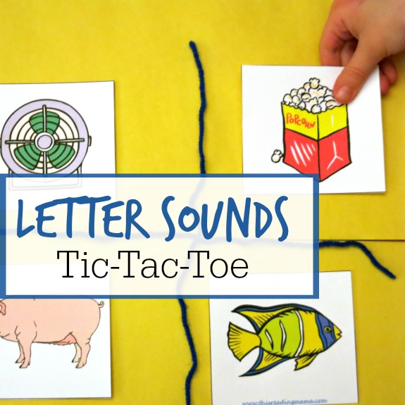Letter Sounds Tic Tac Toe Letter Game