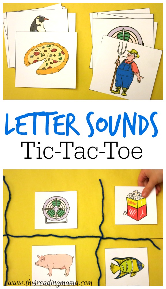 Letter Sounds Tic Tac Toe