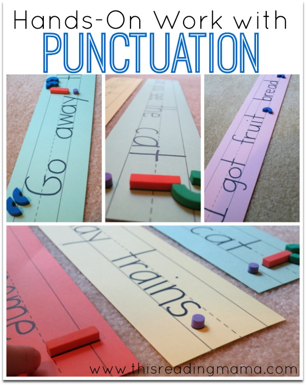 hands-on work with punctuation ~ a great literacy manipulative