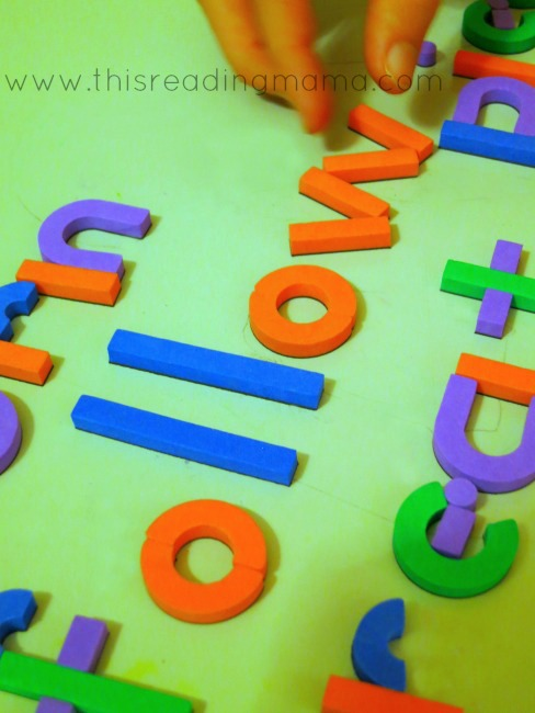 spelling words with literacy letter kit
