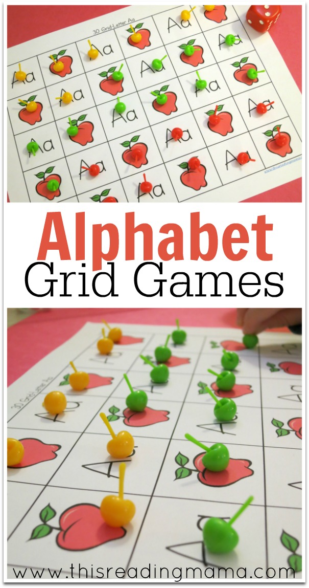 Alphabet Grid Games