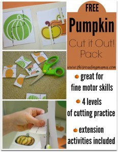 FREE Pumpkin Cut it Out! Pack