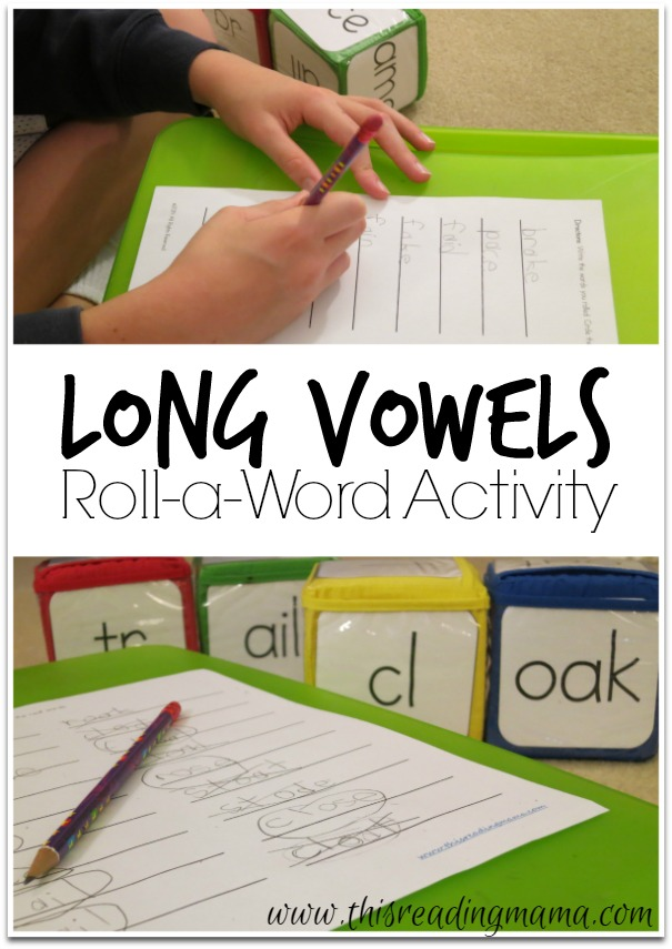 Long Vowels Roll-a-Word  Activity {Freebie!}