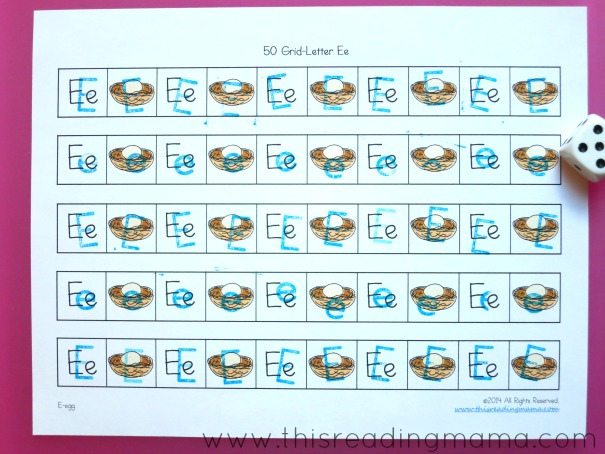alphabet stamps on grid games