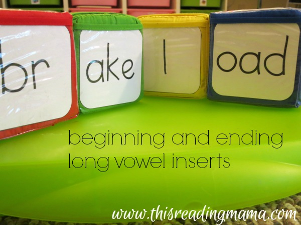 beginning and ending inserts for long vowels
