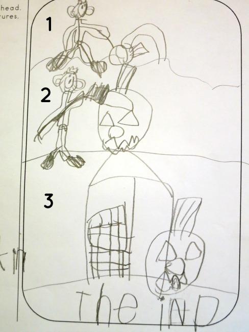 illustrating the pumpkin poem from mental images