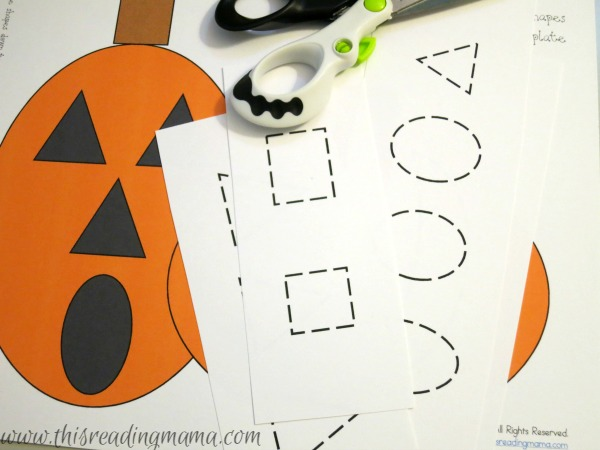 pre-cutting to help preschooler cut shapes