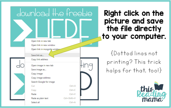 Save Link As Download Trick from This Reading Mama