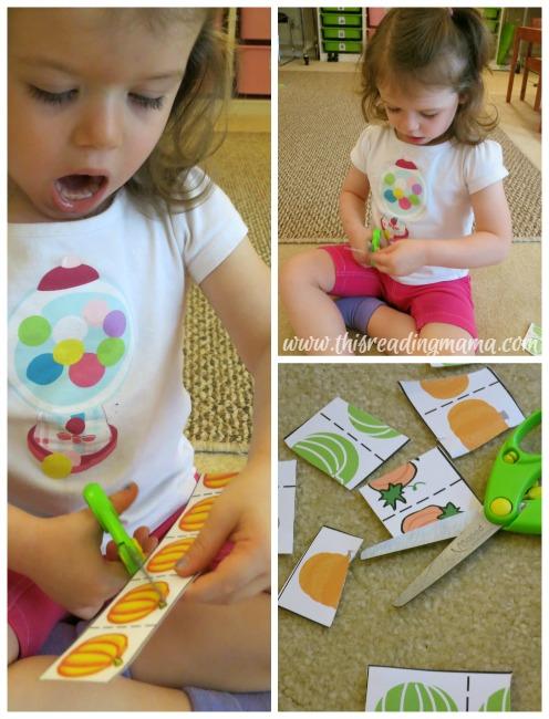 scissor practice for young preschooler
