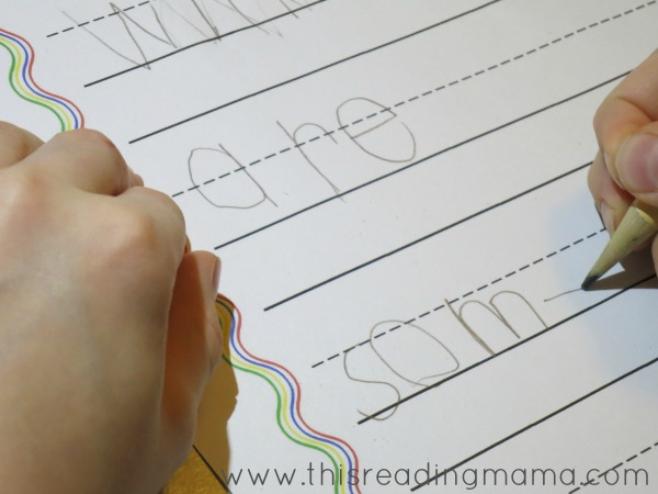 writing spelling words after using wikki stix