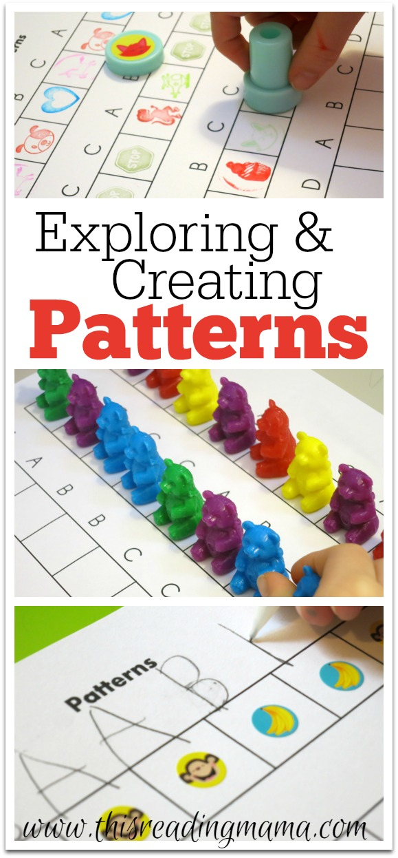 Exploring and Creating Patterns {FREE Printable Included}