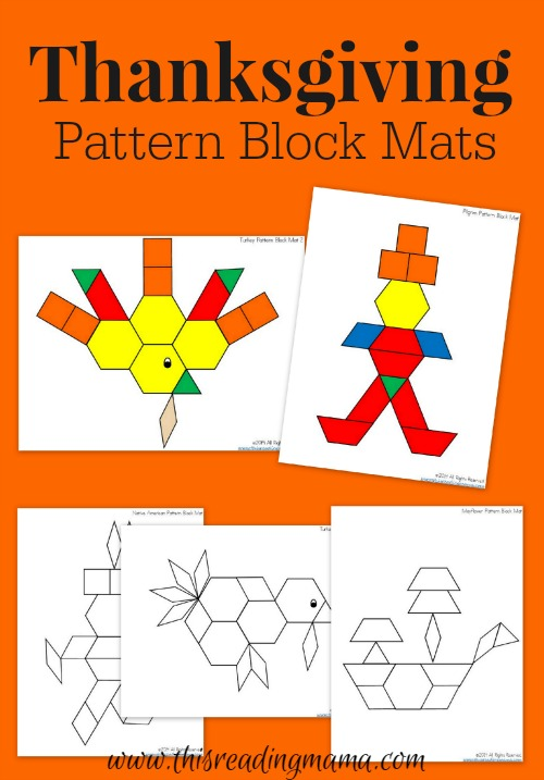 FREE Thanksgiving Pattern Block Mats This Reading Mama