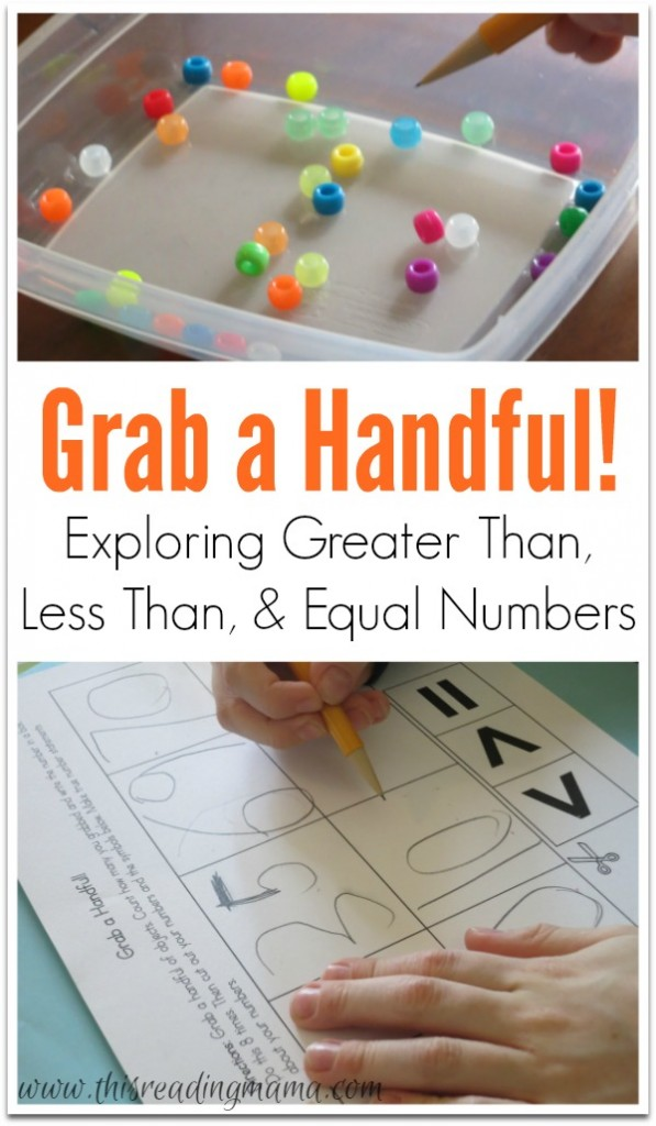 Grab a Handful - Exploring Greater Than, Less Than, and Equal Numbers