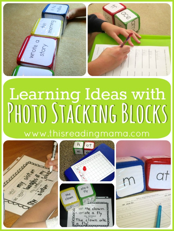 Learning Ideas with Photo Stacking Blocks - This Reading Mama
