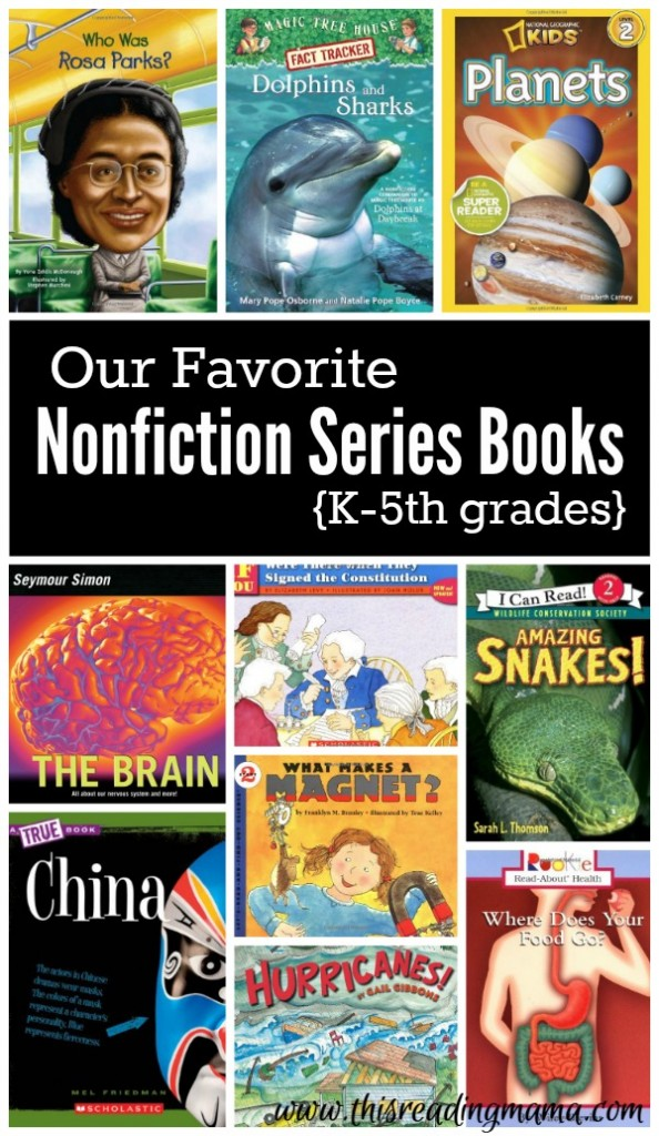 Nonfiction Series Books for K-5th grades This Reading Mama