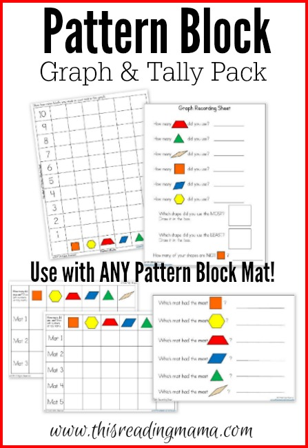 Pattern Block Graph and Tally Pack FREE