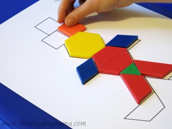Thanksgiving Mats for Pattern Blocks Inspiration Pattern Blocks