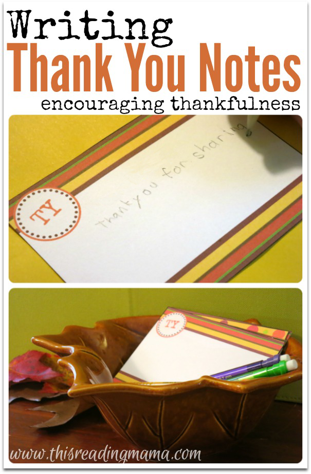 Writing Thank You Notes with FREE Printable Pack | This Reading Mama