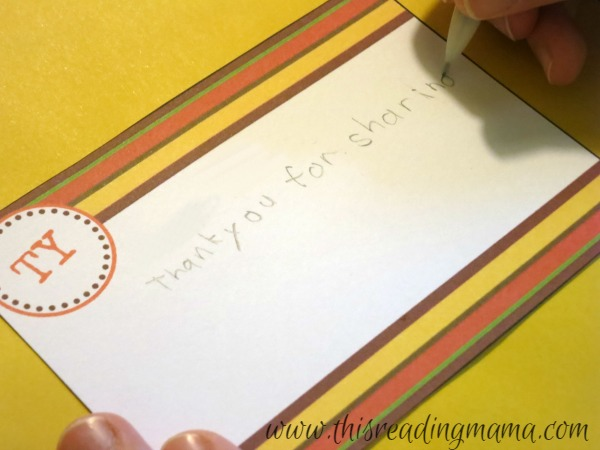 Writing Thank You Notes {Encouraging Thankfulness}