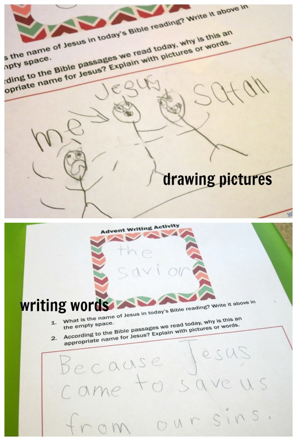 Advent Drawing and Writing Activity to Extend the Advent Cards