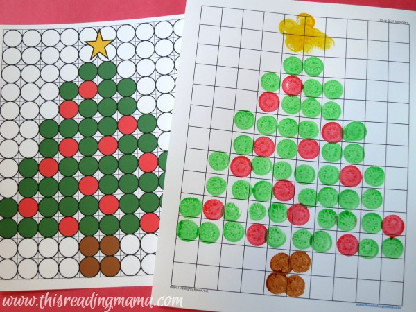 BINGO marker Christmas images with paint