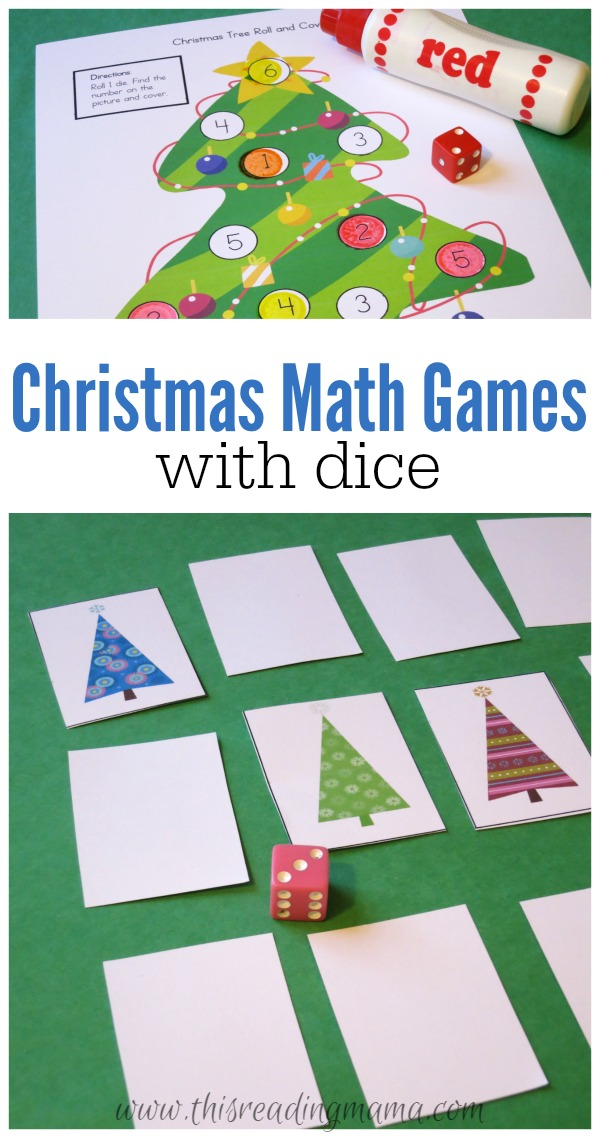 Christmas Math Games with Dice {FREE!}
