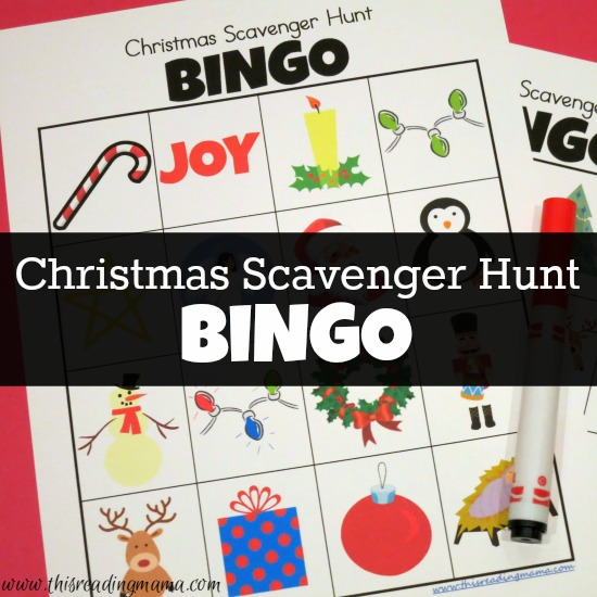 Christmas Scavenger Hunt BINGO Boards {FREE} - This Reading Mama