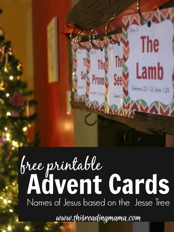 FREE Printable Advent Cards Based on the Jesse Tree | This Reading Mama