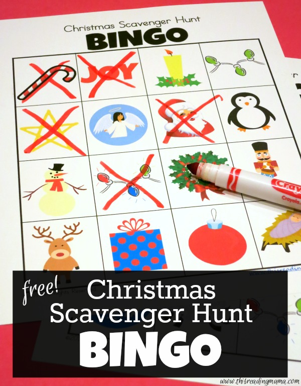 Free Christmas Scavenger Hunt BINGO - This Reading Mama