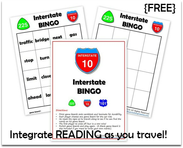 Interstate BINGO Printable {FREE} - This Reading Mama