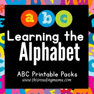 Learning the Alphabet - Hands-on ABC Printable Packs | This Reading Mama