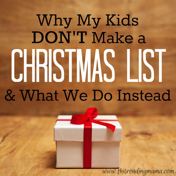 No Christmas List - What We Do Instead - This Reading Mama