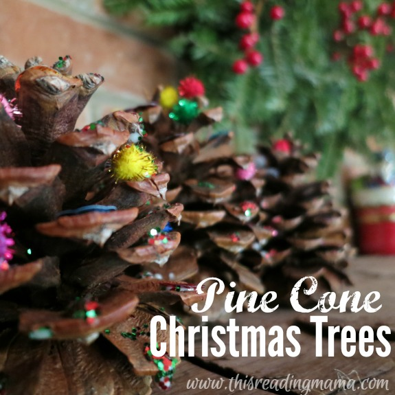 Pine Cone Christmas Trees Craft - This Reading Mama