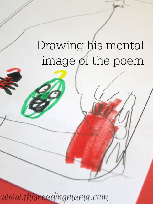 drawing a mental image based on the poem