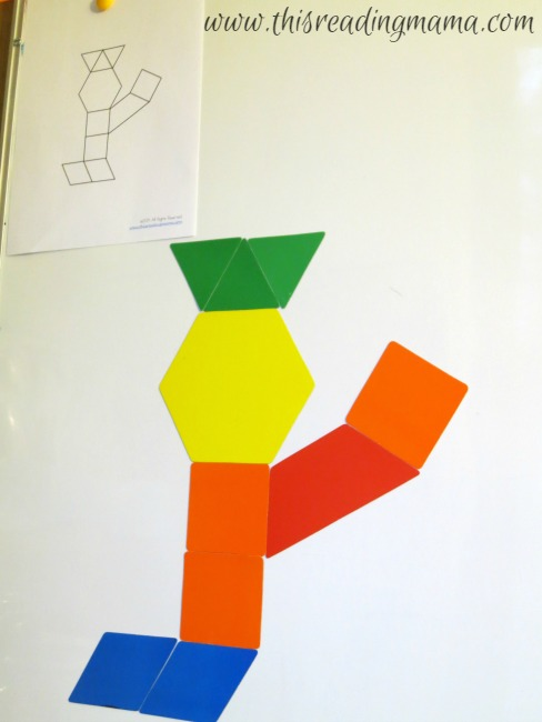 making the wiseman with large magnetic pattern blocks