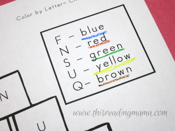 quick tip to help younger kids read color words