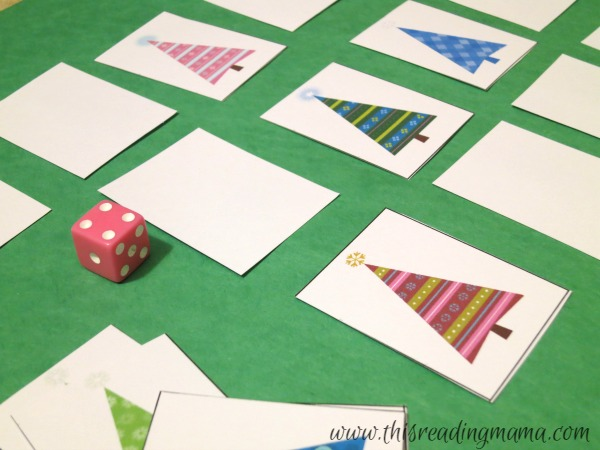 roll a die memory match math game