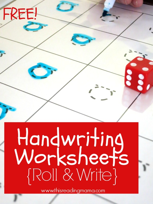Free Handwriting Worksheets Roll And Write. Free Handwriting Worksheets Roll And Write 20grids This Reading Mama. Worksheet. Handwritingworksheets At Clickcart.co