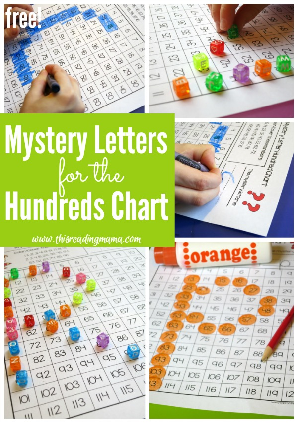 FREE Mystery Letters for the Hundreds Chart {for both upper and lowercase letters} - This Reading Mama