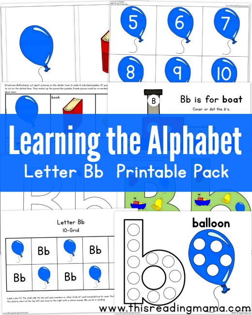 Learning the Alphabet: Letter B Printable Pack