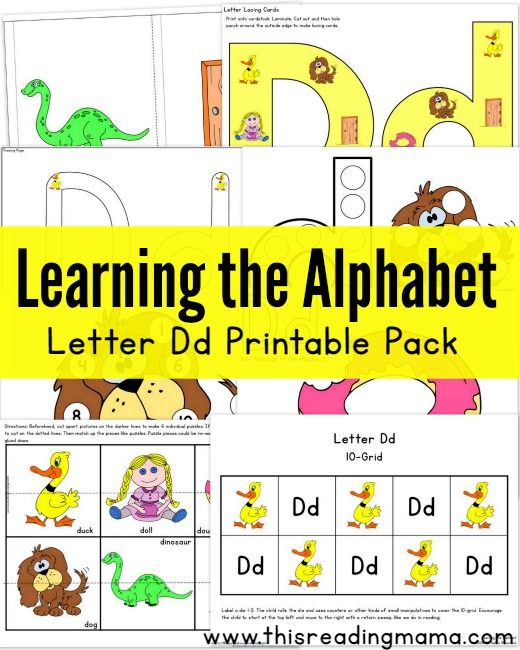 picture regarding Letter D Printable named Understanding the Alphabet: Letter D Printable Pack