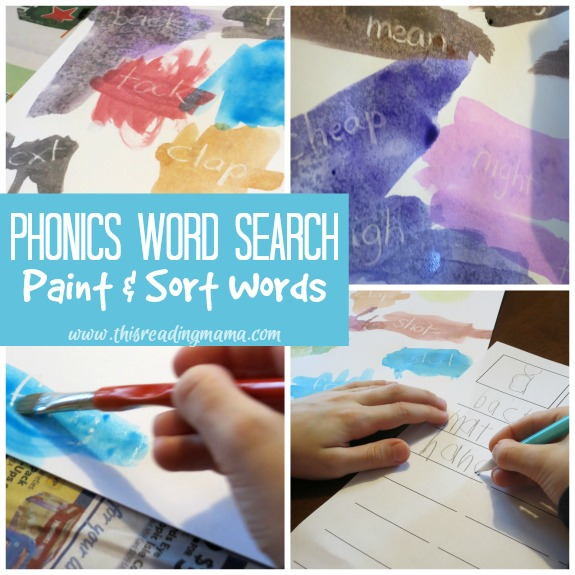 Phonics Word Search - an Open Word Sort with Free Printable Pack