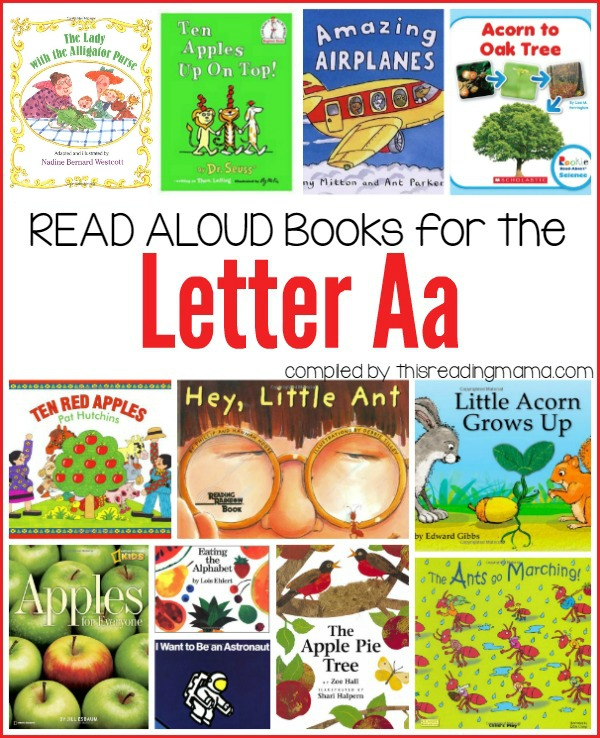Letter A Book List   This Reading Mama