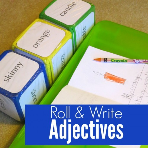 Roll and Write Adjectives Activity with Free Printable