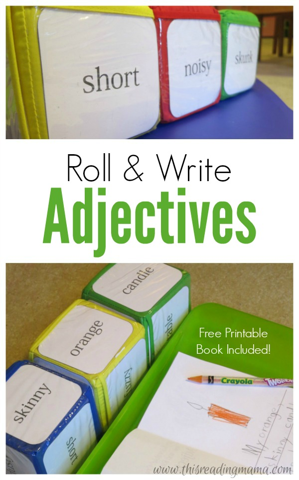 Roll and Write Adjectives