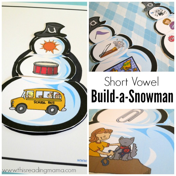 Short Vowel Build-a-Snowman Activity Pack