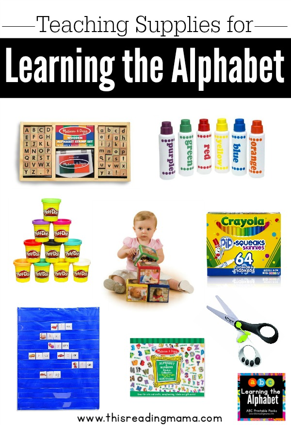 Teaching Supplies for Learning the Alphabet