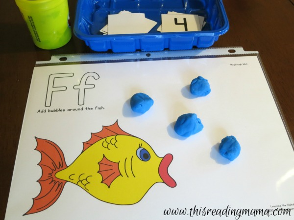 alphabet playdough mats for learning the alphabet