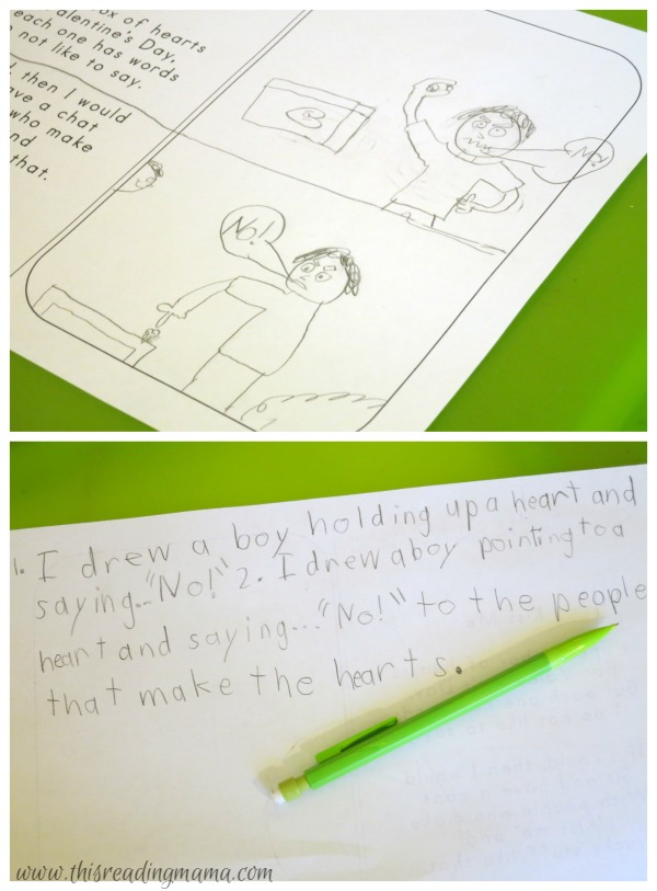 drawing mental images and writing about them